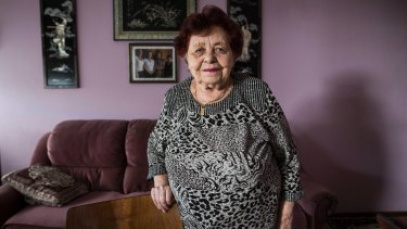 """""""It's not true what they say, that it's not safe here"""": resident Fanya Tesler, 97."""