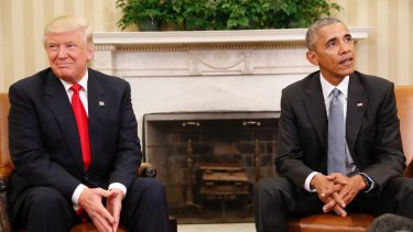 President Barack Obama meets President-elect Donald Trump at the White House.