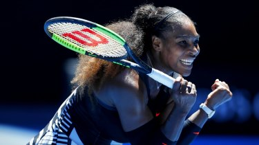 Total control: Serena Williams enjoyed a comfortable win over Johanna Konta.
