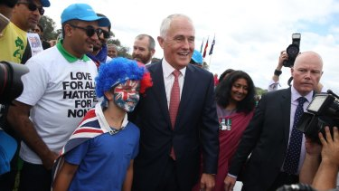 Prime Minister Malcolm Turnbull after a citizenship ceremony on Australia Day in Canberra last year.