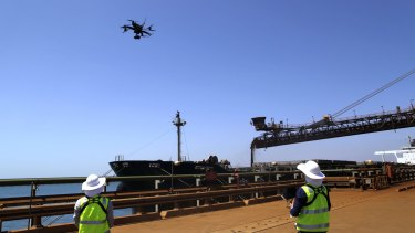 Rio Tinto workers are using drones in the Pilbara region of Western Australia.