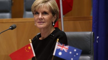 Foreign Minister Julie Bishop attends the Australia-China Business Council on Wednesday.