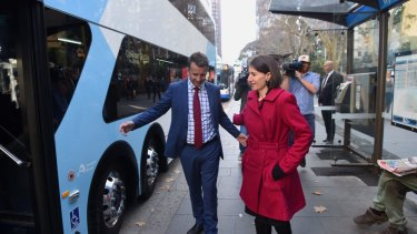 Premier Gladys Berejiklian is a regular bus commuter.