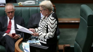 Mrs Bishop requested an apology from Dr Laming - which he gave before he was suspended from  Parliament for 24 hours.