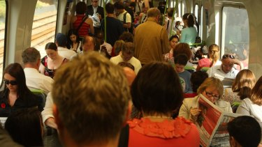 No so comfortable ... Melbourne peak-hour commuters will get no train timetable changes until the end of the year.