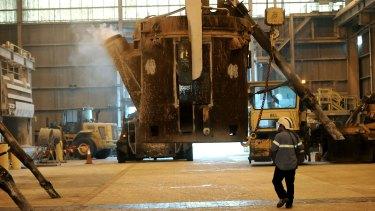 The Alcoa Aluminium smelter at Portland.