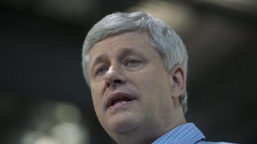 Canadian Conservative leader Stephen Harper.