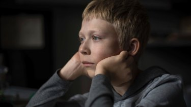 Matvey Novikov plays a young boy who gets in the way of his parents' plans in <i>Loveless</I>.