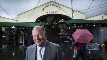 Melbourne lord mayor Robert Doyle at the Queen Victoria Market.