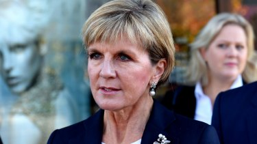 Deputy Liberal leader Julie Bishop, who supports same-sex marriage, wouldn't say how she would vote if the Coalition's plebiscite approved changes.