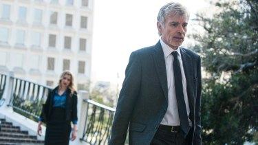Billy Bob Thornton as dead-eyed disgraced lawyer Billy McBride in <i>Goliath</i>.