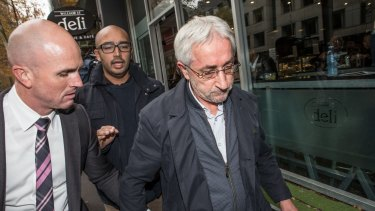 Imam Ibrahim Omerdic, (right) accused of conducting the forced wedding ceremony of a man to a 14-year-old girl.