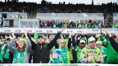Canberra Raiders captain Jarrod Croker wants the Viking clap to spread to Melbourne.