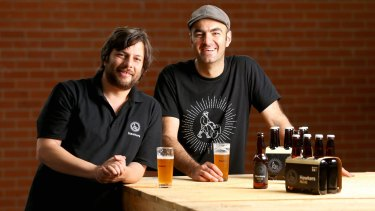 Chef Joseph Abboud (right) has collaborated with Lebanese craft brewer Mazen Hajjar for Hawkers Beer in Reservoir.