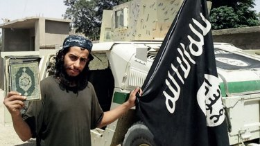An image from Islamic State's magazine Dabiq, shows Belgian national Abdelhamid Abaaoud.