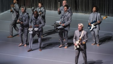 They know where they are going: David Byrne and his band deliver a near flawless performance.