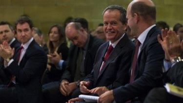 Bill Shorten at Sydney University on Monday.