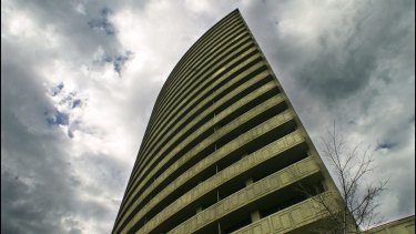 An office suite in the South Melbourne building dubbed the 'tower of power' is for sale.