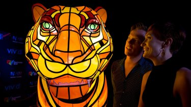 A tiger will be among the light attractions at Taronga Zoo.