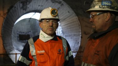 """Carmichael coal mine a """"very important project, not just for Australia, but for the wider world"""": Tony Abbott."""