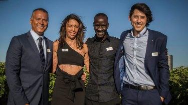 NSW Australian of the year Finalists Stan Grant, Turia Pitt, Deng Adut, Refugee and lawyer and Dr Jordan Nguuyen.