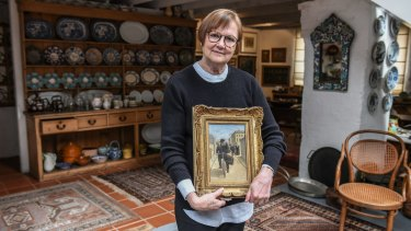 Kay Lanceley in the Surry Hills home she shared with artist husband Colin until he died in January.