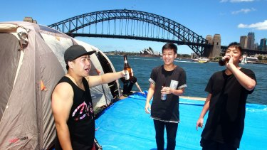 The Choy brothers stake their claim at McMahons Point for New Year's Eve celebrations.