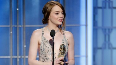 Emma Stone was among <i>La La Land's</i> big wins at the 74th Golden Globe Awards.