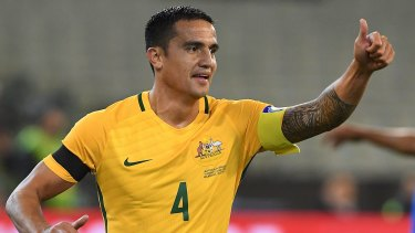 Starter's chance: Socceroos legend Tim Cahill is likely to start the World Cup play-off second leg against Syria.