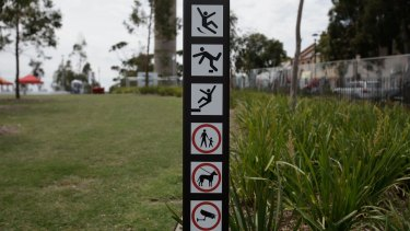 Unsafe behaviour: Barangaroo Reserve will soon be off-limits for kite flyers, soccer players, fishers and musicians.