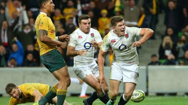 Devastating pairing: George Ford and Owen Farrell.