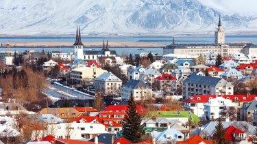 Cityscape Reykjavik, Iceland.