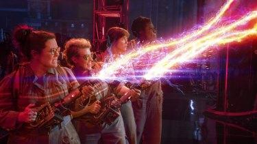 Ghost in the machine: Abby (Melissa McCarthy), Holtzmann (Kate McKinnon), Erin (Kristen Wiig) and Patty (Leslie Jones) stamp out paranormal activity.