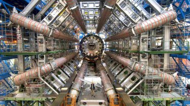 The Large Hadron Collider is used to smash fast-moving particles into one another.