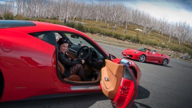 Despina Karatzias enjoyed the climb to Lake Mountain in Victoria's Alpine region in a Ferrari 458 Italia from Prancing Horse.