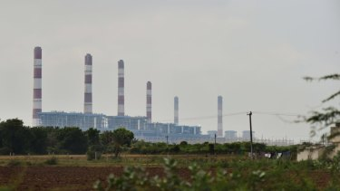 The Adani Power plant inside the special economic zone near Tragadi Bandar on the Kutch Coast of India.