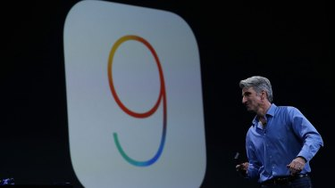 Apple senior vice-president of software engineering Craig Federighi gives an update on the upcoming iOS 9.