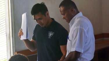 Australian father Ethan Kai (left) was sentenced to 15 years in prison by Fiji's High Court.