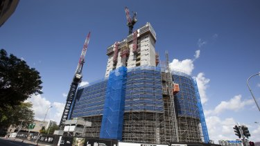 Police believe Pierre Boutaut fell from a crane on the 1 William Street 'tower of power' construction site.