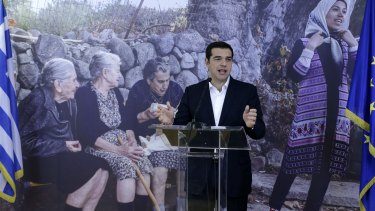 Greece's Prime Minister Alexis Tsipras announces that the first 30 refugees to be relocated from Greece have boarded a plane for Luxembourg.