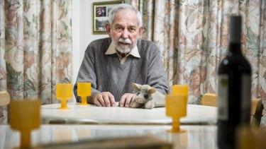 Professor Bob Douglas at home in Aranda.