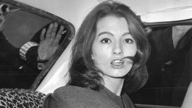 Christine Keeler, the model at the centre of the Profumo Affair, a scandal that rocked the English political establishment in 1963.