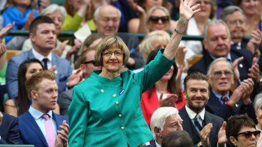Margaret Court at Wimbledon last year.