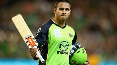 Tons of fun: Usman Khawaja was unstoppable for the Sydney Thunder.