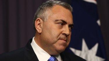 Treasurer Joe Hockey responds to Malcolm Turnbull's leadership challenge on Monday.
