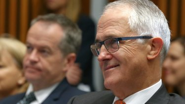 The Coalition government now leads the Bill Shorten-led opposition.