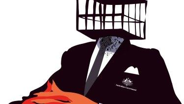 Australian government cage mentality, asylum seekers, detention, youth detention. Illustration: Matt Davidson