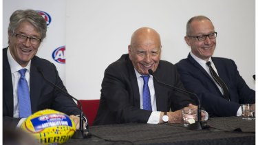 It's all smiles as the new AFL broadcast rights deal retains many of the same-old restrictions for footy fans wanting to watch their team every week.