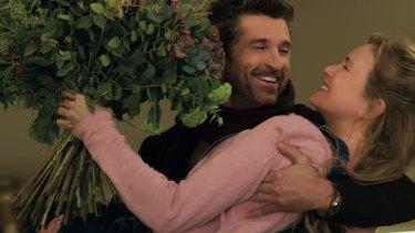 Patrick Dempsey and Renee Zellweger in <i>Bridget Jones's Baby</i>.