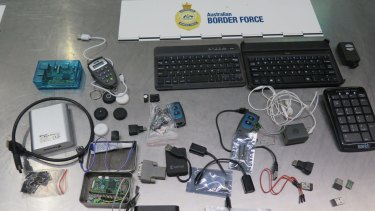 Devices seized from Estonian nationals.